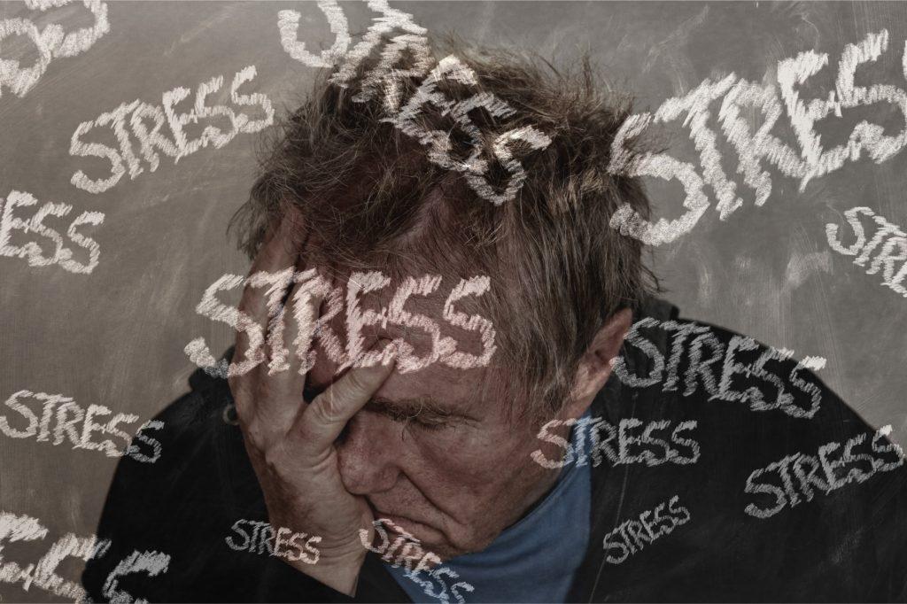 stressed farmer