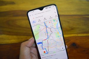 Google maps on a phone